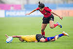 Singapore plays Malaysia during the17th Asian Games 2014 Rugby Womens Sevens tournament on October 02, 2014 at the Namdong Asiad Rugby Field in Incheon, South Korea. Photo by Alan Siu / Power Sport Images