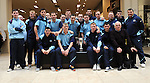 Drogheda United team  with the EA cup at the Drog Shop in Scotch hall. Photo: Colin Bell/pressphotos.ie