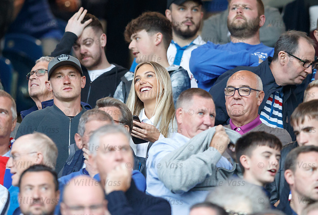 09.08.18 Rangers v Maribor: Fraser Aird in the stands