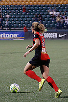 Rochester, NY - Friday May 27, 2016: Western New York Flash forward Lynn Williams (9). The Western New York Flash defeated the Boston Breakers 4-0 during a regular season National Women's Soccer League (NWSL) match at Rochester Rhinos Stadium.