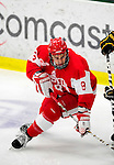 9 January 2011: Boston University Terrier defenseman Ben Rosen, a Sophomore from Syosset, NY, in action against the University of Vermont Catamounts at Gutterson Fieldhouse in Burlington, Vermont. The Terriers defeated the Catamounts 4-2 in Hockey East play. Mandatory Credit: Ed Wolfstein Photo