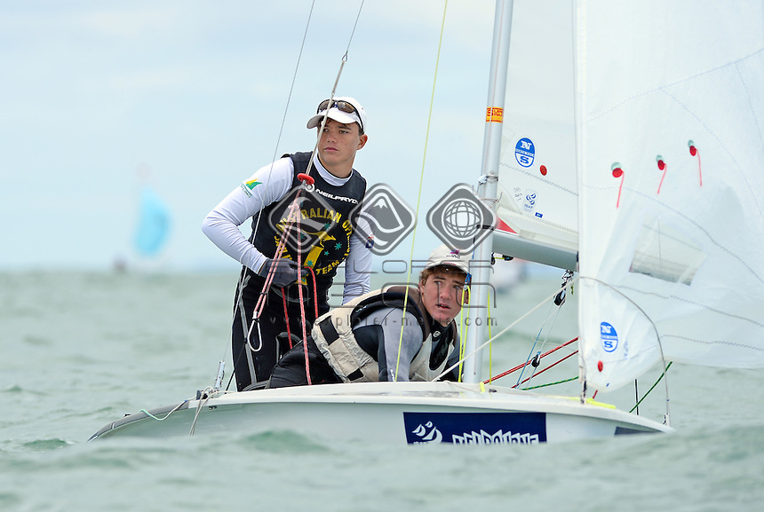 420 / Klaus LORENZ &amp; James HODGSON (AUS)<br /> 2013 ISAF Sailing World Cup - Melbourne<br /> Sail Melbourne - The Asia Pacific Regatta<br /> Sandringham Yacht Club, Victoria<br /> December 1st - 8th 2013<br /> &copy; Sport the library / Jeff Crow
