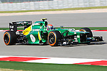 GIEDO VAN DER GARDE (21) driver of the Caterham F1 TeamRenault  in action during the Formula 1 United States Grand Prix practice session at the Circuit of the Americas race track in Austin,Texas.