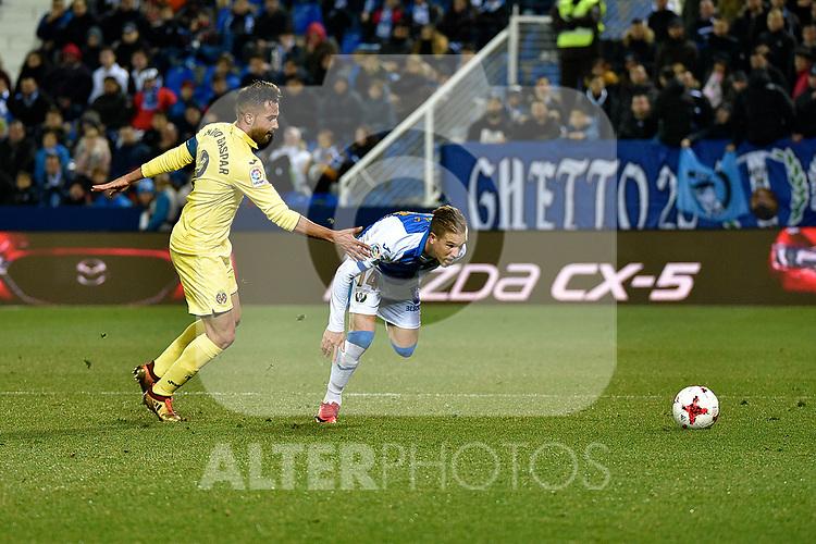 Leganes Ivi Lopez vs Villarreal during Copa del Rey match. 20180104.
