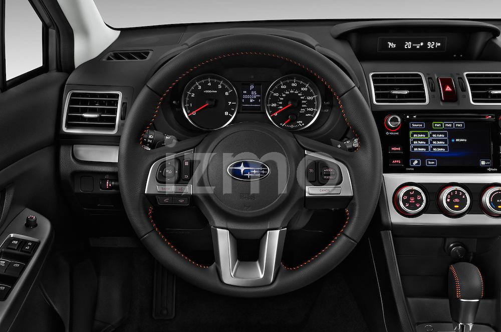 Car pictures of steering wheel view of a 2016 Subaru Crosstrek 2.0i Premium CVT 5 Door SUV Steering Wheel