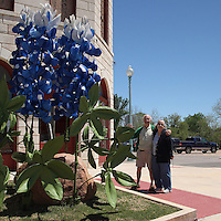 This nice couple let me use them alongside this Giant Bluebonnet. Made during the Bluebonnet Festival in Burnet, Texas.
