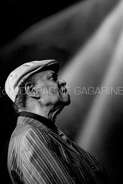 American jazz pianist Mc Coy Tyner at the Jazz Middelheim festival in Antwerp (Belgium, 12/08/2010)