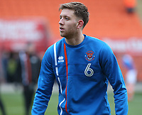 Blackpool's Will Aimson during the pre-match warm-up <br /> <br /> Photographer Stephen White/CameraSport<br /> <br /> The EFL Sky Bet League One - Blackpool v Bristol Rovers - Saturday 13th January 2018 - Bloomfield Road - Blackpool<br /> <br /> World Copyright &copy; 2018 CameraSport. All rights reserved. 43 Linden Ave. Countesthorpe. Leicester. England. LE8 5PG - Tel: +44 (0) 116 277 4147 - admin@camerasport.com - www.camerasport.com