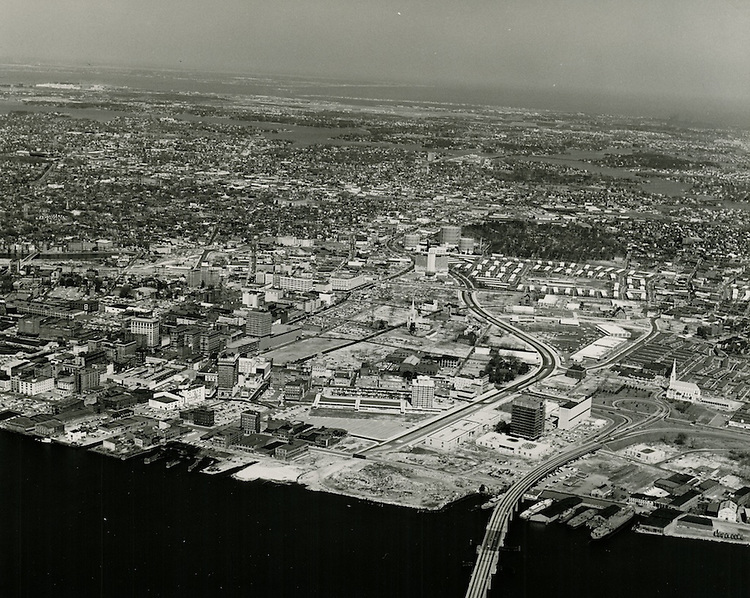 1964 March 17..Redevelopment.Downtown South (R-9)..View looking North of Downtown Norfolk.City Hall under construction...VU Photos.NEG#.NRHA#..