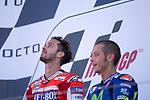 ANDREA DOVIZIOSO - ITALIAN - DUCATI TEAM - DUCATI<br /> VALENTINO ROSSI - ITALIAN - MOVISTAR YAMAHA MotoGP - YAMAHA<br /> PODIUM
