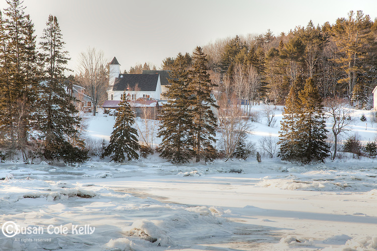 A winter morning on Hog Bay in Franklin, Hancock County, ME, USA