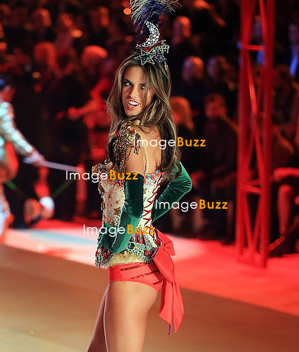 NEW YORK, NY - NOVEMBER 07: Victoria's Secret Angel - ALESSANDRA AMBROSIO walks the runway during the 2012 Victoria's Secret Fashion Show at the Lexington Avenue Armory in New York City.