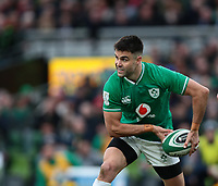 8th February 2020; Aviva Stadium, Dublin, Leinster, Ireland; International Six Nations Rugby, Ireland versus Wales; Conor Murray (Ireland) passes the ball out wide