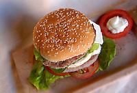 Fast food. Hamburger...