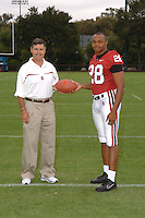 7 August 2006: Stanford Cardinal head coach Walt Harris and Peter Griffin during Stanford Football's Team Photo Day at Stanford Football's Practice Field in Stanford, CA.