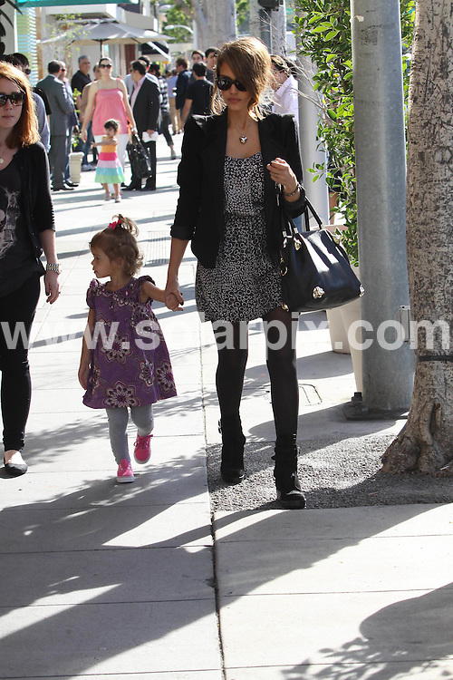 **ALL ROUND PICTURES FROM SOLARPIX.COM**                                             **SYNDICATION RIGHTS FOR UK, AUSTRALIA, DENMARK, PORTUGAL, S. AFRICA, SPAIN & DUBAI (U.A.E) & ASIA (EXCLUDING JAPAN) ONLY**                                                                                  Caption:  Jessica Alba Shopping In Beverly Hills With Daughter Honor Marie in Hollywood CA USA..This pic: Jessica Alba & Honor Marie                                                                                            JOB REF: 12669       PHZ7candis       DATE:14.01.20111                                                            **MUST CREDIT SOLARPIX.COM OR DOUBLE FEE WILL BE CHARGED**                                                                      **MUST AGREE FEE BEFORE ONLINE USAGE**                               **CALL US ON: +34 952 811 768 or LOW RATE FROM UK 0844 617 7637**