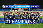 Japan vs Saudi Arabia during the 2016 AFC U-19 Championship Final match at Bahrain National Stadium on 30 October 2016, in Riffa, Bahrain. Photo by Stringer / Lagardere Sports