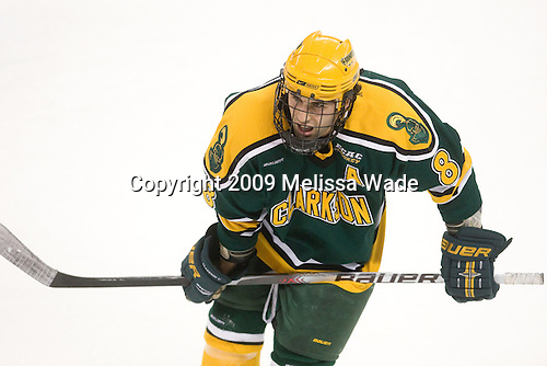 Matt Beca (Clarkson - 8) - The Boston College Eagles defeated the Clarkson University Golden Knights 6-5 on Friday, November 27, 2009, at Conte Forum in Chestnut Hill, Massachusetts.