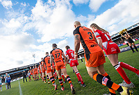 Picture by Allan McKenzie/SWpix.com - 11/02/2018 - Rugby League - Betfred Super League - Castleford Tigers v Widnes Vikings - the Mend A Hose Jungle, Castleford, England - Castleford onto the field.