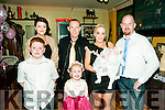 Baby Kelsey McElligott with her parents Paddy & Jackie McElligott, Listowel and brother  Tyrese an sister Kayla and god parents Siobhan Keatin & Alan Hartnett who was christened at St. Mary's Church, Listowel by canon Declan O'Connor and afterwards at the saddle Bar, Listowel.