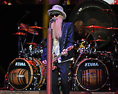 WEST PALM BEACH, FL - OCTOBER 20: Billy Gibbons of ZZ Top performs during the 50th Anniversary Tour at The Coral Sky Amphitheatre on October 20, 2019 in West Palm Beach Florida. Credit Larry Marano © 2019