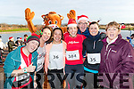 Susie Baily, Margo Burns, Ines Delgado, Marie Carroll, Michelle Dowling, Dominic Burns and Bridie Hayes, pictured at the Santa Fun Run, in aid of Barretstown, starting from the Tralee Bay Wetlands, on Sunday last.