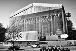 Gen&egrave;ve, le 16.10.2017<br /> Vues du Grand Th&eacute;&acirc;tre de Gen&egrave;ve en travaux &agrave; la Place Neuve.<br /> Le Courrier / &copy; C&eacute;dric Vincensini