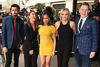 Dean Fagan, Brooke Vincent, Tisha Merry, Katie McGlynn and Craig Tinker<br /> arriving for the TRIC Awards 2016 at the Grosvenor House Hotel, Park Lane, London<br /> <br /> <br /> &copy;Ash Knotek  D3095 08/03/2016