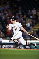 Bradenton Marauders right fielder Michael Suchy (13) at bat during a game against the Fort Myers Miracle on April 9, 2016 at McKechnie Field in Bradenton, Florida.  Fort Myers defeated Bradenton 5-1.  (Mike Janes/Four Seam Images)
