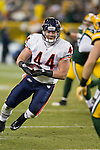 Chicago Bears full back Tyler Clutts (44) carries the ball during a week 16 NFL football game against the Green Bay Packers on December 25, 2011 in Green Bay, Wisconsin. The Packers won 35-21. (AP Photo/David Stluka)