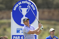 Paul Dunne (IRL) on the 11th tee during Round 3 of the Open de Espana 2018 at Centro Nacional de Golf on Saturday 14th April 2018.<br /> Picture:  Thos Caffrey / www.golffile.ie<br /> <br /> All photo usage must carry mandatory copyright credit (&copy; Golffile | Thos Caffrey)