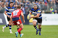 Henry Thomas of Bath Rugby in possession. Aviva Premiership match, between Bath Rugby and Worcester Warriors on October 7, 2017 at the Recreation Ground in Bath, England. Photo by: Patrick Khachfe / Onside Images