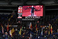New AS Roma coach Claudio Ranieri on the screen as supporters cheer on  <br /> Roma 11-3-2019 Stadio Olimpico Football Serie A 2018/2019 AS Roma - Empoli<br /> Foto Andrea Staccioli / Insidefoto