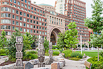 The Boston Harbor Hotel on the Rose Kennedy Greenway in Boston, MA, USA