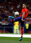 Atletico de Madrid's Mario Hermoso during La Liga match. Aug 18, 2019. (ALTERPHOTOS/Manu R.B.)Atletico de Madrid's Mario Hermoso warms up before the Spanish La Liga match between Atletico de Madrid and Getafe CF at Wanda Metropolitano Stadium in Madrid, Spain