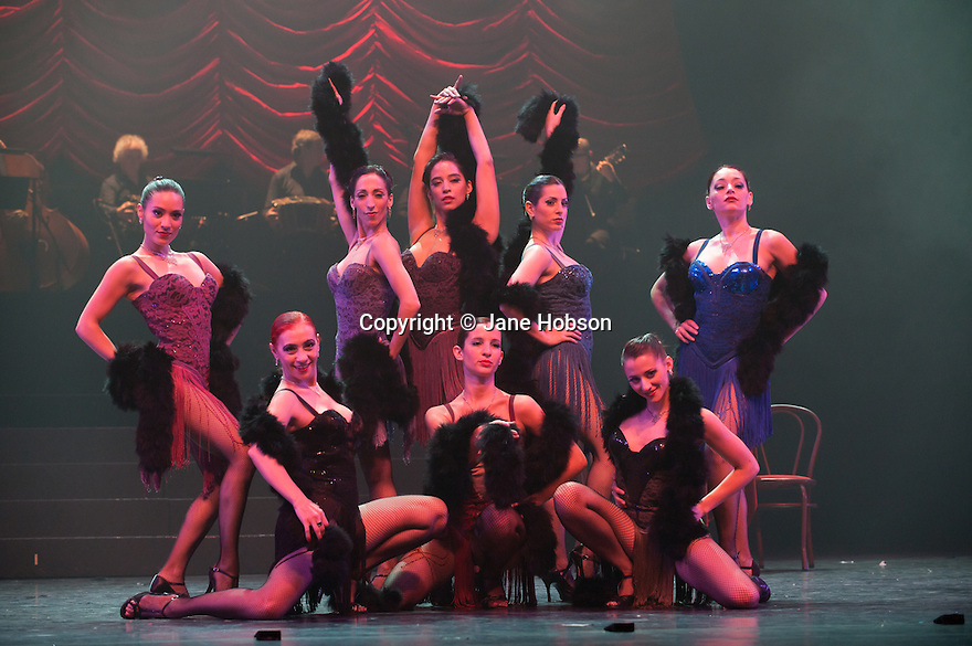 The ensemble in the UK premiere of 'Tanguera' at Sadlers Wells, 4.8.10.