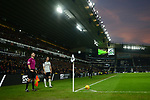 Chris Baird of Derby County prepares to take a corner as the sun sets during the championship league match between Derby and Millwall at Pride Park Stadium, Derby. Picture date 23rd December 2017. Picture credit should read: Joe Perch/Sportimage