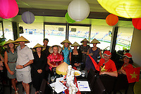 Fans in the corporate boxes on day two of the 2016 HSBC Wellington Sevens at Westpac Stadium, Wellington, New Zealand on Sunday, 31 January 2016. Photo: Dave Lintott / lintottphoto.co.nz