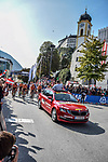 The start of the Women Elite Road Race of the 2018 UCI Road World Championships running 156.2km from Kufstein to Innsbruck, Innsbruck-Tirol, Austria 2018. 29th September 2018.<br /> Picture: Innsbruck-Tirol 2018 | Cyclefile<br /> <br /> <br /> All photos usage must carry mandatory copyright credit (&copy; Cyclefile | Innsbruck-Tirol 2018)