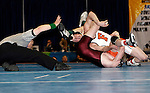 12 MAR 2011: Michael Lybarger of Findlay wrestles Zack McKendree during the Division II Wrestling Championship held at the Health and Sports Center at the University of Nebraska-Kearney in Kearney, NE. Lybarger defeated McKendree 3-1 for the national 165 pound title. Scott Anderson/NCAA Photos