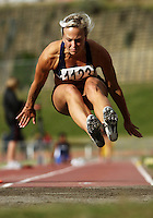 Auckland's Veronica Torr competes in the women's long jump during the National athletics championships at Newtown Park, Wellington, New Zealand on Friday, 27 March 2009. Photo: Dave Lintott / lintottphoto.co.nz