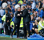 Chris Wilder manager of Sheffield Utdand Alan Knill Assistant manager of Sheffield Utd celebrate during the Championship match at the Hillsborough Stadium, Sheffield. Picture date 24th September 2017. Picture credit should read: Simon Bellis/Sportimage
