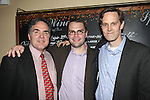 Artistic Director Tim Sanford, Playwright Samuel D,. Hunter & Director Davis McCallum attending the Opening Night Performance After Party for 'The Whale' at West Bank Cafe in New York City on 11/05/2012