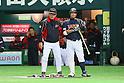 (L to R) . Koji Yamamoto (JPN), .Shinnosuke Abe (JPN), .MARCH 2, 2013 - WBC : .2013 World Baseball Classic .1st Round Pool A .between Japan 5-3 Brazil .at Yafuoku Dome, Fukuoka, Japan. .(Photo by YUTAKA/AFLO SPORT) [1040]