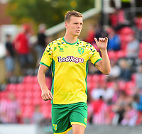Norwich City's Sean Raggett<br /> <br /> Photographer Andrew Vaughan/CameraSport<br /> <br /> Football Pre-Season Friendly - Lincoln City v Norwich City - Tuesday 10th July 2018 - Sincil Bank - Lincoln<br /> <br /> World Copyright &copy; 2018 CameraSport. All rights reserved. 43 Linden Ave. Countesthorpe. Leicester. England. LE8 5PG - Tel: +44 (0) 116 277 4147 - admin@camerasport.com - www.camerasport.com