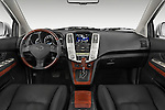 Straight dashboard view of a 2008 Lexus RX Hybrid.