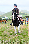 Kathy Scott from Sea View Equestrian (Ballydavid) riding Lucky at the West Kerry Agricultural Show at the Dingle Mart on Sunday.