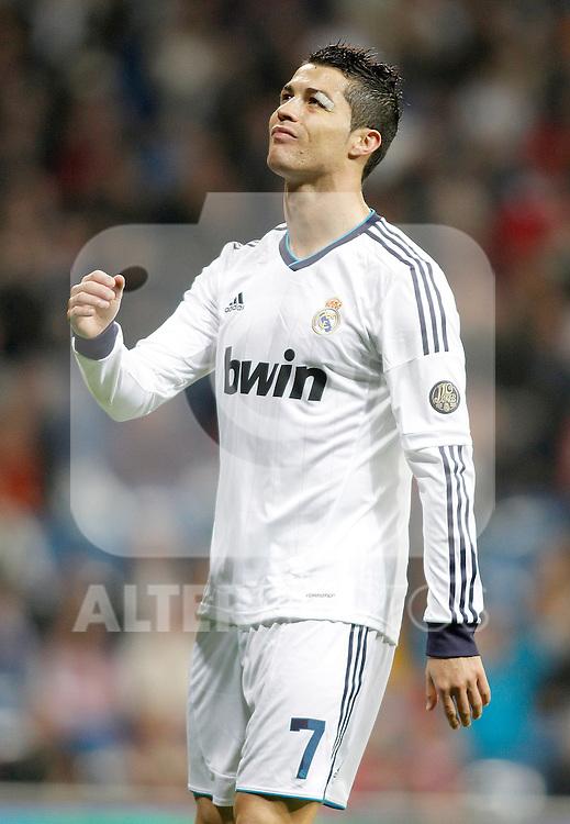 Real Madrid's Cristiano Ronaldo reacts during La Liga Match. November 17, 2012. (ALTERPHOTOS/Alvaro Hernandez)