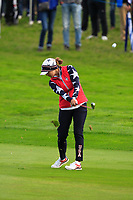 Marina Alex of Team USA on the 1st fairway during Day 2 Foursomes at the Solheim Cup 2019, Gleneagles Golf CLub, Auchterarder, Perthshire, Scotland. 14/09/2019.<br /> Picture Thos Caffrey / Golffile.ie<br /> <br /> All photo usage must carry mandatory copyright credit (© Golffile | Thos Caffrey)