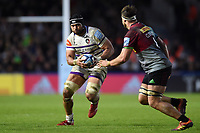 Sione Kalamafoni of Leicester Tigers in possession. Gallagher Premiership match, between Harlequins and Leicester Tigers on May 3, 2019 at the Twickenham Stoop in London, England. Photo by: Patrick Khachfe / JMP